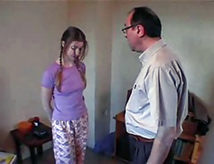Teen Girl Gets Horrible Punishment From Her Father In Law For Being Naughty